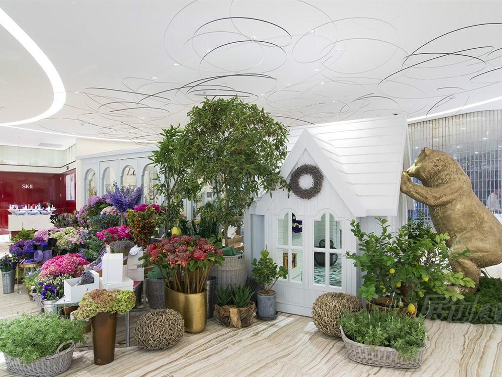 花艺展厅商场陈列柜设计